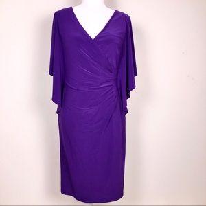 Lauren Ralph Lauren Purple Wrap Dress Size 8